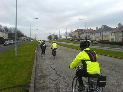 A Go Bike ride tackling one of Glasgow's quadruple carriageway roads - click for larger image