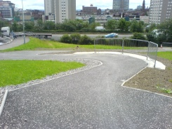 New ramp down from the canal at Speirs Wharf
