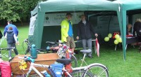Go Bike, and others, had a great day, despite the rain, at the CamGlen Bike Launch today