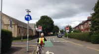 This photo shows the recently completed contraflow cycle lane in Cardonald Place Road, leading up to Paisley Road West in Glasgow, but we have written back to Glasgow City Council […]
