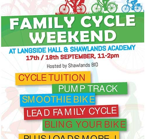 SHAWLANDS FAMILY CYCLE WEEKEND Lots of amazing things happening over the weekend at Langside Hall and Shawlands Academy, Sat/Sun 11-2pm Cycle tuition for under 5's – Play on Pedals Shawlands […]