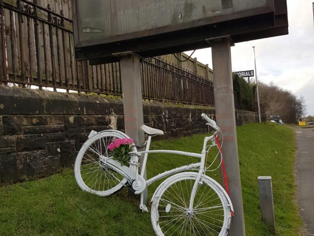 Cyclists, including GoBike members, to the west of Glasgow, have erected a white bike at the junction of Great Western Road(A82) westbound and the slip road to the Erskine Bridge(A898) […]