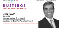 Photo from East Renfrewshire Council website Jim Swift is an existing Conservative & Unionist councillor on East Renfrewshire council and is standing for election on 04 May 2017.  Here is […]