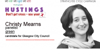"Christy Mearns is a Scottish Green Party candidate in Glasgow and is standing for election on 04 May 2017.  Here is the text that she sent us: ""I'm Christy Mearns, […]"