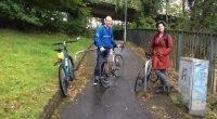 The photo, taken by GoBike committee member, Peter Hayman, shows Councillor Christy Mearns and GoBike member, Tim Pearson, having just crossed St George's Road and about to tour Garnethill on […]