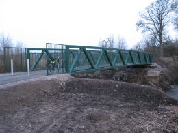 Replacement bridge between Balmore and Cadder