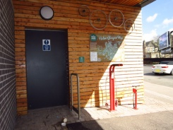 Public bicycle repair and maintenance stand in Giffnock - PHOTO: Calum Macphee